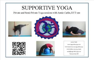 Supportive Yoga Postcard